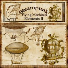 Free Digital Elements and Embellishments   ... Page >> whimzytreasures's Scrapbooks >> Steampunk Elements - Page 1