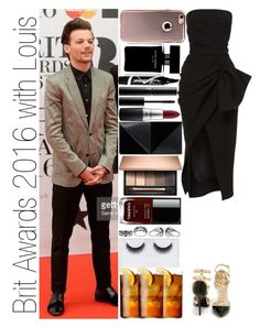 """Brit Awards 2016 with Louis"" by narryismybae ❤ liked on Polyvore featuring Maticevski, Wild Diva, Harley-Davidson, Surratt, Narciso Rodriguez, Chanel, MAC Cosmetics, Maybelline, UN United Nude and Georgie Beauty"
