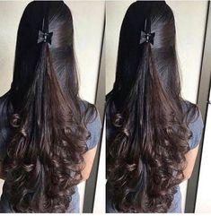 Nice hair idea for long curls Nice hair idea for long curls Indian Hairstyles, Hairstyles Haircuts, Braided Hairstyles, Cool Hairstyles, Hairstyles Videos, Braided Updo, Wedge Hairstyles, Medium Hair Styles, Curly Hair Styles