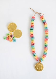 #DIY lucky #rainbow #necklace ...