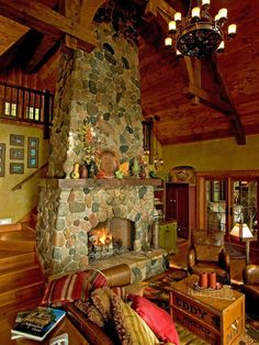 not sure what I think - like the colors - Ours would not wrap around. Fireplace Design, Pictures, Remodel, Decor and Ideas - page 22