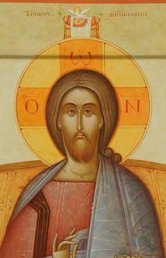 Christ the Teacher Christ Pantocrator, Images Of Christ, Art Icon, Orthodox Icons, Sacred Art, Christian Art, Religious Art, Gabriel, Jesus Christ
