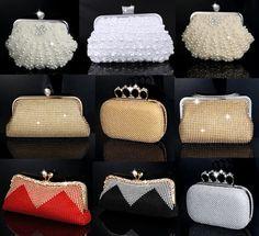 a4b62c9b9 Día de embrague mujeres bolsa de diamantes de imitación del anillo de dedo  bolsos de tarde de lujo de la perla de la boda bolso de noche bolso de  cuentas ...