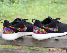 CHILD/YOUTH Autism Awareness Custom Nike Roshe by GrabbKicks