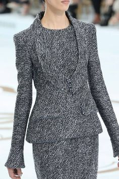 Chanel | Fall 2014 Couture dress suit #minimalist #fashion #style