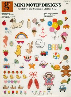 Stone Hill Collectibles - 46 Baby Mini Motif Cross Stitch Patterns Graphworks Vol I