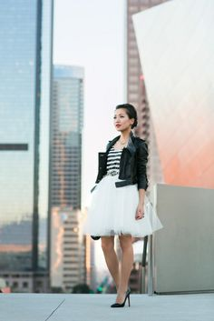 Pick Me Up :: Striped sequin & Tulle skirt by Wendy's lookbook