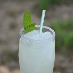 (non-alcoholic) Mint Juleps - made like a lemonade with added lemon/lime soda and ginger ale! :D Yum!