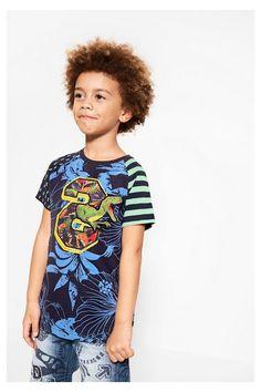 Camiseta de algodón surfera para niño - Freddie | Desigual.com B