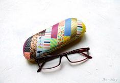 washi tape eyeglass case