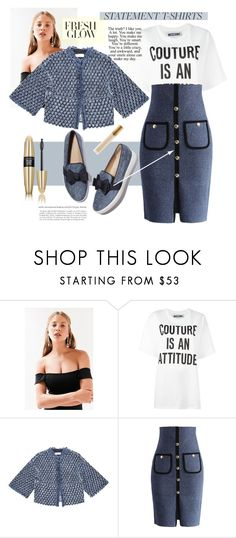 """Ink"" by killatrash ❤ liked on Polyvore featuring Silence + Noise, Moschino, Sonia Rykiel, Chicwish, Victoria's Secret, MAC Cosmetics, skirt and statementtshirt"