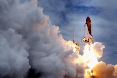 Space shuttle Atlantis blasts off from launch pad 39A at Kennedy Space Center July 8, 2011 in Cape Canaveral, FL. This lift off is the last in the 30-year-old shuttle program. (Chip Somodevilla/Getty Images)  #