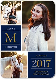 Pure Class - Graduation Announcements in Flint or Black | simplyput by Ashley Woodman