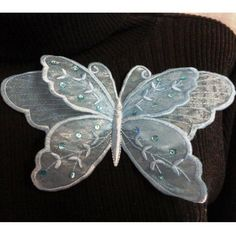 Beautiful organza & machine embroidered butterflies - fab! 'Embroidery : Lace Butterfly 1
