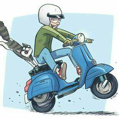 39 Ideas For Motorcycle Art Design Vintage Posters Vespa Lx, Vespa Lambretta, Best Scooter, Scooter Girl, Mod Scooter, Motor Scooters, Vespa Scooters, Vespa Illustration, Friends Illustration