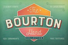 Bourton Hand Font + BONUS Textures by Kimmy Design on @creativemarket