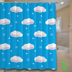 Cheap clound patterns Shower Curtain