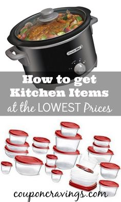 Stock your kitchen and get the best, most popular and most used kitchen items on sale! There's no reason to pay full price on items that are regularly 60-75% off. See my post on how to save on kitchen small appliances.