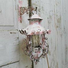 Shabby Home, Shabby Chic, Katie Homes, Storm Lantern, Pink Home Decor, Hanging Lanterns, Pink Walls, French Decor, Art Decor