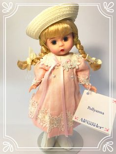 Alice In Wonderland Series, Pink Dress, Flower Girl Dresses, Blonde Braids, Madame Alexander Dolls, Doll Maker, Toy Store, Vintage Dolls, Eye Color