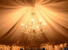 chandeliers provided ambient lighting