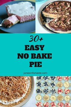 Choose from one of these amazing easy no bake pies to satisfy your sweet tooth that are perfect whether you want to make a pie just for yourself or to take to a potluck or party. Chocolate Chip Cookie Pie, No Bake Chocolate Cheesecake, No Bake Pumpkin Cheesecake, Lemon Chiffon Pie, Pumpkin Chiffon Pie, New Dessert Recipe, Summer Dessert Recipes, Make Ahead Desserts, Easy No Bake Desserts