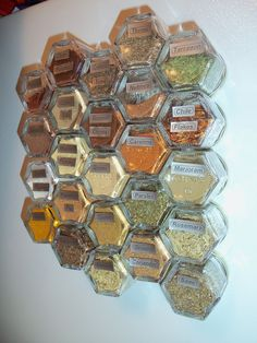 Magnetic Spice Jars - Great space saver idea! A DIY Christmas gift for me!