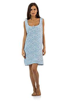Casual Nights Women s Cotton Sleeveless Nightgown Chemise - Green - Medium  at Amazon Women s Clothing store  9b9ff5deb