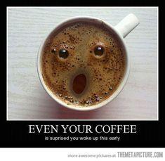 funny coffee face surprised mug