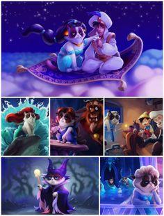 Top 10 Perplexing Disney Princess Mashups - Grumpy Cat version! :D