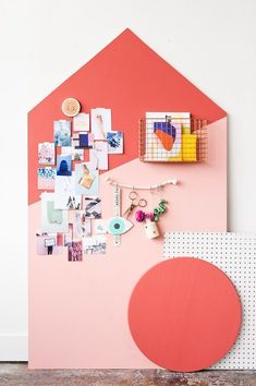 Style Files: New Fall Style Guide + How to Make a Giant DIY Mood Board Organizer. Handmade Home, Cool Diy, Diy Décoration, Easy Diy, Pretty Things, Workspace Inspiration, Moodboard Inspiration, Inspiration Boards, Board Ideas
