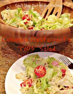 "Columbia Restaurant's ""1905″ Salad - fabulous signature salad and dressing recipe from Columbia Restaurants"