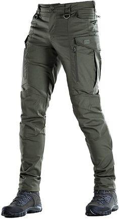 M-Tac Conquistador Flex - Tactical Pants Men - with Cargo Pockets (Olive Dark, X. Mens Tactical Pants, Tactical Wear, Tactical Clothing, Casual Outfits, Men Casual, Cargo Pants Men, Herren Outfit, Military Men, Mens Clothing Styles