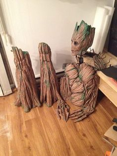 Feeling overwhelmed by my Groot costume, taking a break to share some progress photos.