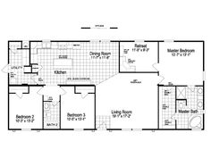 Palm Harbor Homes floor plans for a 1800 Sq Ft House in Austin, Texas. View The Pecan Valley plans for your manufactured, modular or mobile home. Mobile Home Floor Plans, Modular Home Floor Plans, House Floor Plans, 3 Bedroom Floor Plan, House Plans 3 Bedroom, Pole Barn House Plans, Pole Barn Homes, Square House Plans, Palm Harbor Homes
