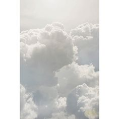 Clear Skies Fine Art Print, Matted Cloud Photography in Light Grey and... ($65) ❤ liked on Polyvore featuring home, home decor and wall art