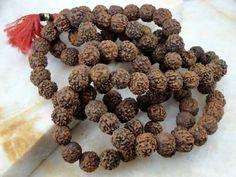 108 Beads Holy Natural Rudraksha Rudraksh Mala Necklace