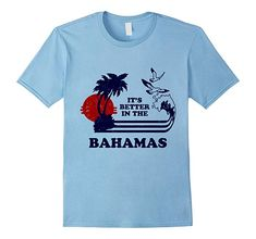9c1866d07aa6d2 Mens It s Better in the Bahamas Vintage 70s 80s T-Shirt 2XL Baby Blue Retro