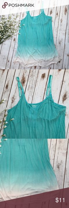 Bump in the Night nursing night gown size XL Aqua and white in color. There is a pretty faded look that goes to white on bottom. Bra top and snaps at front for easy access to nursing. Super stretchy and flowy. Bump in the Night Intimates & Sleepwear