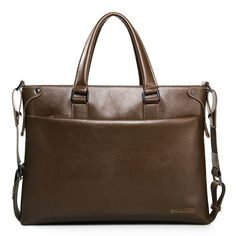 c1ad2f7d0c Wholesale Genuine Leather Handbag for Men with Stitched Pattern - Brown
