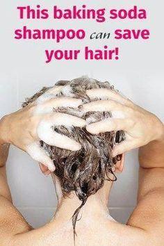 This baking soda shampoo can save your hair #BakingSodaAndShampoo #BakingSodaShampoo #BakingSodaShampooRecipe #BeautyHacksWithBakingSoda Baking Soda Dry Shampoo, Baking Soda For Dandruff, Baking Soda For Hair, Baking Soda Uses, Honey Shampoo, Shampoo For Curly Hair, Natural Shampoo, Natural Hair, Hair Scalp