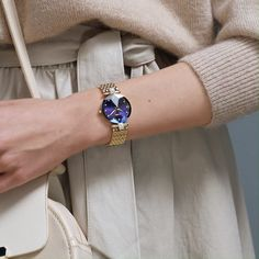 Looking for a beautiful Swiss watch for women? These elegant watches from Jowissa are high quality and affordable. Elegant Watches, Women Accessories, Jewelry Accessories, Bracelet Watch, Jewelry Bracelets, Classy, Jewels, Purple, Blue