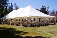 canvas wedding tent  Pacific Party Canopies