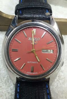 Vintage Seiko 5 Automatic Day-Date 21-Jewels Men's Wrist Watch AS-18