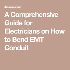 Pipe bending instructions an electrical conduit bending guide for a comprehensive guide for electricians on how to bend emt conduit keyboard keysfo Image collections