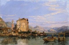 Angera, Lake Maggiore by George Clarkson Stanfield     IX001548.jpg (400×260)