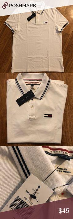 new men polo shirt  tommy hilfiger custom fit new Authentic Tommy Hilfiger Shirts Polos