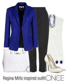 """Regina Mills inspired outfit/OUAT"" by tvdsarahmichele ❤ liked on Polyvore featuring River Island, Brooks Brothers, Topshop, Vanessa Bruno, Casadei and CARAT*"