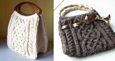Stylish Viking Knitted Cabled Bag [FREE Knitting Pattern]