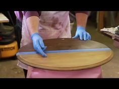 How to Strip Stain From Wood : Furniture Repair Tips - YouTube